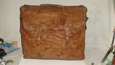 RALPH  LAUREN  VINTAGE MINT ALL LEATHER  DISTRESSED  POLO GARMENT BAG