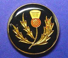 THISTLE Inlaid enamel effect buttons by HOLLAND & SHERRY set of 8,excellent cond