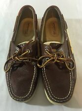 Sperry Topsiders Authentic Boat Shoes Dark Brown Womans 6.5 M