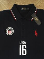 Polo Ralph Lauren USA Mesh Shirt Men 4XLT French Navy wFlag Classic Fit $125 NWT