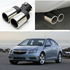 Double Outlets Exhaust Muffler Tail Pipe Tip Tailpipe for Chevrolet Cruze 09-14