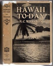HAWAII TO-DAY 1920 by RC Wriston ~ First AERIAL PHOTOS of Hawaii ~Ever~  HB w DJ