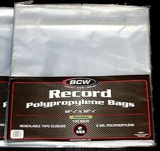 """1000 RESEALABLE LP OUTER SLEEVES High-Quality Ultra-Clear 12"""" Vinyl Album Covers"""