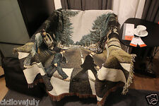 """The Beatles Abbey Road Bed Throw Sofa Blanket Woven Tapestry 50""""X 60"""" Multi-Use"""