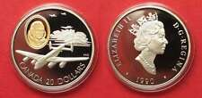 CANADA 20 Dollars 1990 Lancaster AVIATION silver goldinlay Proof SCARCE! # 91947