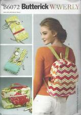 BUTTERICK SEWING PATTERN WAVERLY JEWELRY CASE COSMETIC BAG BACKPACK  B6072