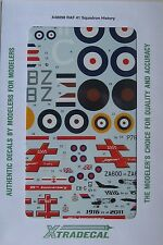 Xtradecal 1/48 X48098 RAF no 41 Sqd decal set (Spitfire, Jaguar, Tornado etc)