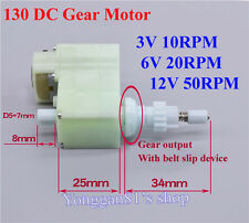 3V-12V DC Gear Motor Geared Motor Biaxial output DIY for Robot Tank Toys