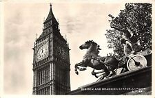 BR61265 big ben and boadicea statue london  real photo   uk