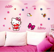 HELLO KITTY Wall Sticker Decal Kid's Girl Bedroom Home Decor Mural Vinyl Art
