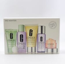 Clinique Daily Essentials 5 Piece Gift Set for Dry to Combination Skin (Sealed)