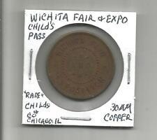 """AT (W) Wichita Fair & Expo """"Rare Child's Pass"""" 30 MM Copper"""