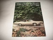 1968 CHEVROLET IMPALA BEL AIR CAPRICE BISCAYNE SS  SALES BROCHURE CANADIAN CLEAN