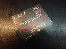 ROLAND SO-JD80-01 DRUMS & PERCUSSION EXPANSION DATA CARD FOR JD-800 SYNTHESIZER