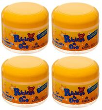 4 Packs Ricitos De Oro Gel Manzanilla Chamomile Alcohol FREE Lightens Hair Color