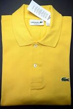NWT Lacoste L2121 Men's Classic Fit Medium Yellow Cotton Polo Shirt 3XL Eur 8