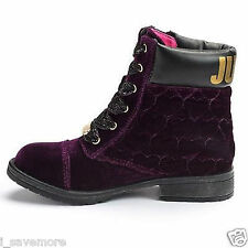 Juicy Couture Girls Quilted Ivona Purple Velvet Ankle Boots Sz 12MED NIB $75