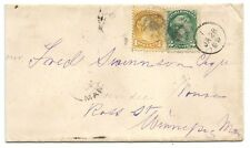 Canada Small Queens 1c & 2c on 1889 cover to USA