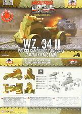 Polacco Ruota panzer Wz.34 versione di pistola, First To Fight,1/72, Plastica
