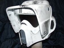 STAR WARS BIKER SCOUT FIBREGLASS HELMET  FULL SIZE  WITH INNER FOAM WEARABLE