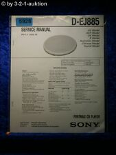 Sony Service Manual D EJ885 CD Player  (#5928)