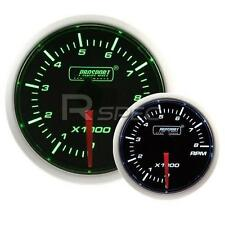 Prosport 52mm Super Smoked Green / White RPM Revs Petrol 0-10000RPM Gauge