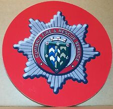 Fire and Rescue Service Cumbria vinyl sticker personalised..