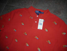 RARE NWT POLO RALPH LAUREN FLY FISHING FLIES SHIRT SIZE XL LURES ALL OVER SEWN