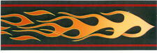 Motorcyle Flames / Flame on Black Wallpaper Border 143B63537