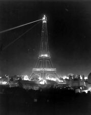 New 11x14 Photo: Eiffel Tower Illuminated at 1900 Paris Exposition, France