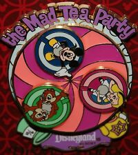 Disney Alice Wonderland Mad Tea Party Ride Spinner 3D Pin NEW ON ORIGINAL CARD