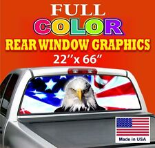 Eagle Truck Car Rear Window Graphics Sign Tint Decals Sign Dodge Ford Chevy *