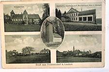 18541 AK Gruß aus Thiemendorf b. Lauban Schloß Kaufhaus Rautenkranz Kirchb. 1927