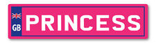 2 X GB PRINCESS PINK NUMBER PLATES TOY CHILDREN RIDE ON SELF ADHESIVE STICKER