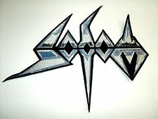 SODOM BLUE AND WHITE LOGO SHAPED    EMBROIDERED BACK PATCH