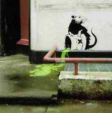 Banksy Rat Toxic Spill Pavement A4 Sign Aluminium Metal
