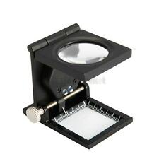 8X Three-Folding Scale Desktop Magnifier Metal with Pointer LED Light