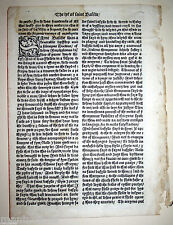1493 English INCUNABLE Golden Legend LEAF England HISTORY Medieval INCUNABULA