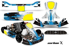 AMR Racing Graphics KG Unico Racing Kart Sticker Decal Kit Wrap CARBON X BLUE