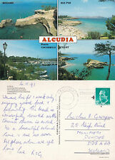 1991 MULTI VIEWS OF ALCUDIA MALLORCA SPAIN COLOUR POSTCARD
