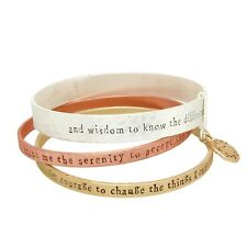 Serenity Prayer Bracelet Three Bangles Inspire Engraved Religious A A Gift 3Tone