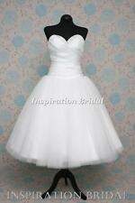 1376 short tea length knee wedding dresses bridal gown made to measure plus size