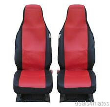 FRONT RED BLACK FABRIC SEAT COVERS PEUGEOT PARTNER TEPEE EXPERT BOXER BIPPER
