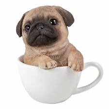 Adorable Teacup Pet Pals Puppy Collectible Figurine 5.75 Inches (Pug)