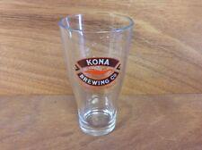 Kona Brewing Co. 16oz Pint Glass Beer Liquid Aloha - Beautiful Hawaiian Logo NEW