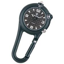 Smith & Wesson Black Carabiner Key Chain Quartz Watch - Includes LED Light