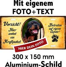 Hunde Warn Schild eigenes Foto Text jede Rasse Beispiel Rottweiler Hier wohnt...