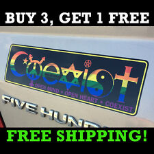 COEXIST Bumper Sticker Symbols Peace Transgender Evolution Harmony Rainbow Style