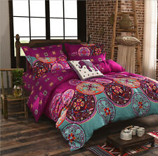 Oriental Mandala Bed Pillowcase Quilt Duvet Cover Set Queen Size