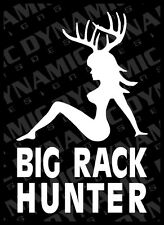 Large Big Rack Hunter Sticker deer hunting boobs sportsman vinyl window decal